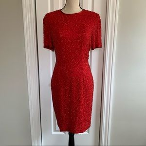 A.J. Bari vintage 100% silk dress